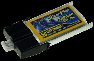 3.7v 300mAh 25/50C Akumulator RC LiPO E-Flite MCPX