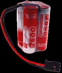 4.8V 2600mAh Pakiet akumulatorów RC NiMH AA (Kostka) Futaba