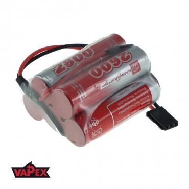 6V 2600mAh Pakiet akumulatorów RC NiMH AA (Garb) VapexTech