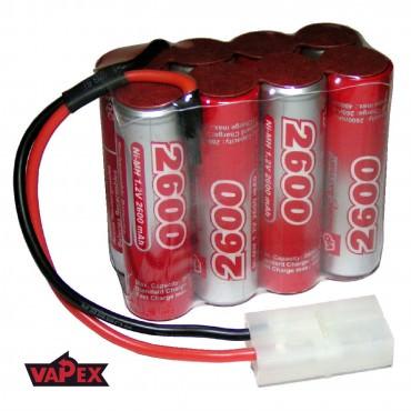 9.6V 2600mAh Pakiet akumulatorów RC NiMH AA (4x2) VapexTech