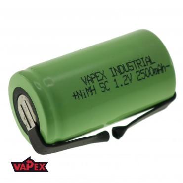 Akumulator Ogniwo 1.2V 2500mAh Ni-MH SubC (SC) - Blaszki
