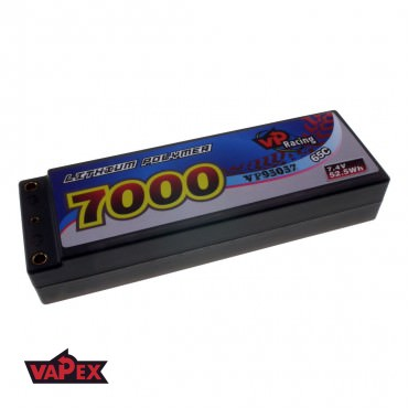 7.4V 7000mAh 65/130C Akumulator RC LiPo w twardej obudowie VapexTech VP95057