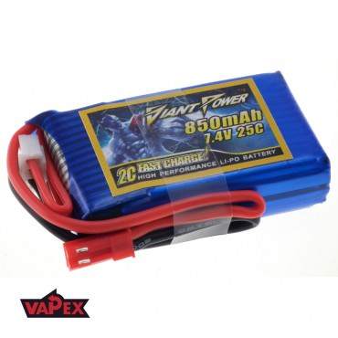 7.4V 850mAh 25/50C Akumulator RC LiPO Giant Power