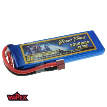 7.4V 3300mAh 35/70C Akumulator RC LiPO Giant Power