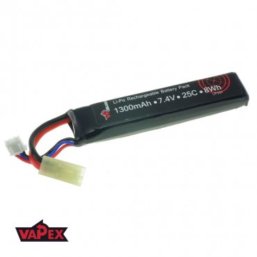 7.4V 1300mAh 25/50C Akumulator Airsoft LiPO VapexTech
