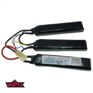 11.1V 2600mAh 20/40C Akumulator Airsoft LiPo (Cranestock) VapexTech