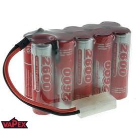 12V 2600mAh Pakiet akumulatorów RC NiMH AA (5x2) VapexTech