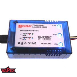 700mA Balance Charger for 1S-3S (3.7V/7.4V/11.1V) LiPO and LiFePO4 Batteries Vapex