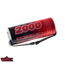 1.2V 2000mAh 4/5A NiMH Single Cell Rechargeable Battery with Tags VapexTech