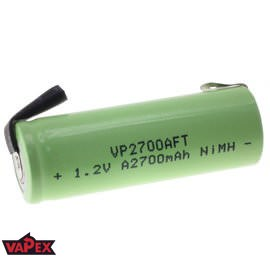 1.2V 2700mAh A NiMH Single Cell Rechargeable Battery with Tags VapexTech