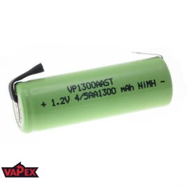 1.2V 1300mAh 4/5AA NiMH Single Cell Rechargeable Battery with Tags VapexTech