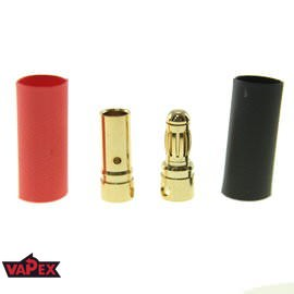 3.5mm Gold Plated Bullet RC Connectors - Pair (male + female)