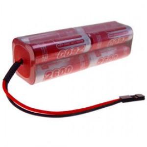 9.6V 2600mAh Pakiet akumulatorów RC NiMH AA (Kostka) VapexTech