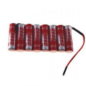 9.6V 2600mAh Pakiet akumulatorów RC NiMH AA (Płaski) VapexTech