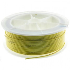 Kabel Ciepłoodporny Silikonowy 24AWG (0.2mm2) Żółty Airsoft RC - 1m