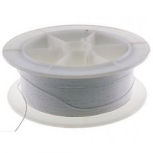 Kabel Ciepłoodporny Silikonowy 22AWG (0.33mm2) Biały Airsoft RC - 1m
