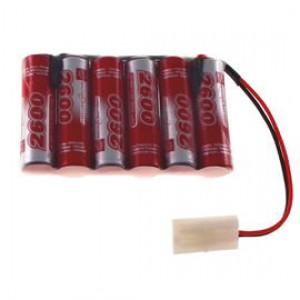 7.2V 2600mAh Pakiet akumulatorów RC NiMH AA (Płaski) Tamiya VapexTech
