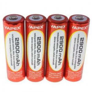 4 Akumulatorki 1.2v 2900mAh AA (R6) Vapex-Tech + Box