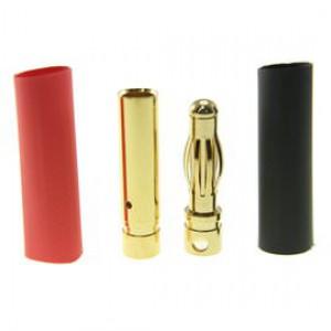 Pozłacany Wtyk złącze RC Gold Bullet 4mm - para (męski + żeński)