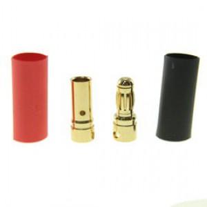 Pozłacany Wtyk złącze RC Gold Bullet 3.5mm - para (męski + żeński)
