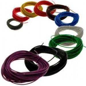 Kabel PVC 7x0.2mm (10 kolorów po 10m) max. 1A
