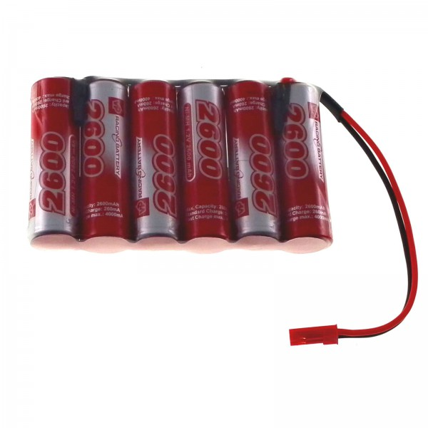 7.2V 2600mAh NiMH AA (Flat) RC Rechargeable Battery Pack JST BEC VapexTech