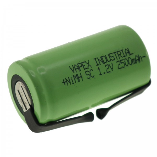 1.2V 2500mAh SC NiMH Single Cell Rechargeable Battery with Tags VapexTech