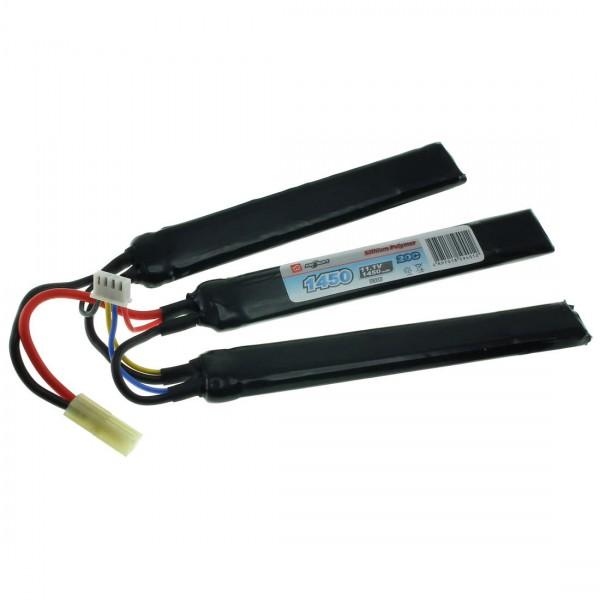11.1V 1450mAh 20/40C Airsoft Cranestock LiPo Battery VapexTech