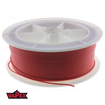 Kabel Ciepłoodporny Silikonowy 20AWG (0.5mm2) Czerwony Airsoft RC - 1m