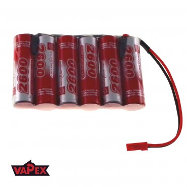 7.2V 2600mAh Pakiet akumulatorów RC NiMh AA (Płaski) VapexTech JST BEC