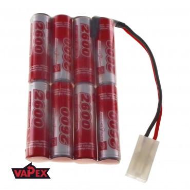 9.6V 2600mAh Pakiet akumulatorów RC NiMH AA (4+4) VapexTech