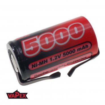 Akumulator Ogniwo 1.2V 5000mAh Ni-Mh SubC (SC) - Blaszki