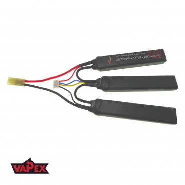 11.1V 2600mAh 25/50C Akumulator Airsoft LiPo (Cranestock) VapexTech