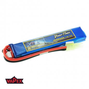 7.4V 1000mAh 15/30C Akumulator Airsoft LiPO Giant Power