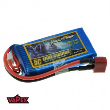 7.4V 1000mAh 35/70C Akumulator RC LiPo Giant Power