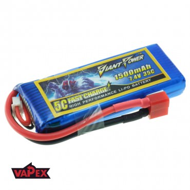 7.4V 1500mAh 35/70C Akumulator RC LiPo Giant Power