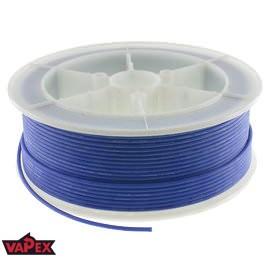 Kabel Ciepłoodporny Silikonowy 24AWG (0.2mm2) Niebieski Airsoft RC - 1m