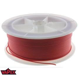 Kabel Ciepłoodporny Silikonowy 24AWG (0.2mm2) Czerwony Airsoft RC - 1m