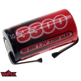 Akumulator Ogniwo 1.2V 3300mAh Ni-Mh SubC (SC) - Blaszki
