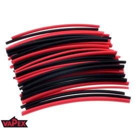 Koszulki / Rurki Termokurczliwe Czarne i Czerwone, 4 Rozmiary 40 Sztuk 8 metrów 6 metrów