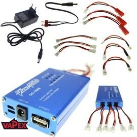 6 kanałowa ładowarka do akumulatorków LiPO 3.7V Giant Power z wtyczką Walkera (JST-SD) Hubsan E-Flite MCPX