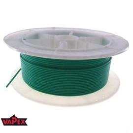 Kabel Ciepłoodporny Silikonowy 22AWG (0.33mm2) Zielony Airsoft RC - 1m