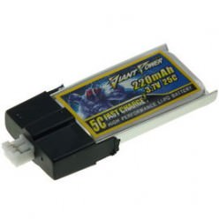 3.7V 220mAh 25/50C Akumulator RC LiPO e-flite MCPX Giant Power