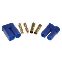 Pozłacany Wtyk złącze RC EC5 para 5mm (męski + żeński)