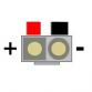 Pozłacany Wtyk złącze RC Mini Tamiya męski - podłączenie RC